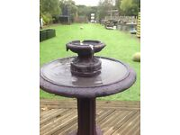 Birdbath water fountain