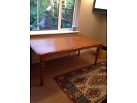 Large pine dining/kitchen/hobby table