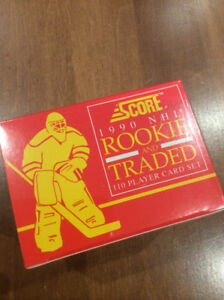 1990 Score NHL Rookie and Traded 110 Player Card Set