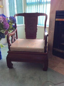 2 Oriental Chairs for sale
