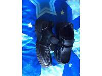 Boys black Velcro school shoes size 10