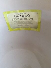 Kitchen craft home made traditional stoneware mixing bow 31cm/12 6 litres