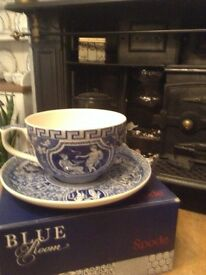 antique vintage style large china spode large cup and saucer boxed