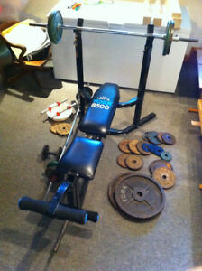 3 Banc d'exercice,3 exercise bench :York 8500 et 250,Weider Pro