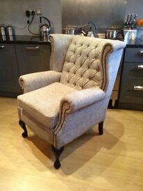 Barker stone house grey Chesterfield comfy armchair