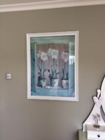 Large glass framed picture
