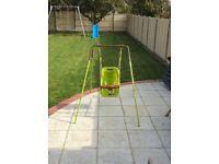 Baby Toddler Garden Swing Childrens Kids Indoor Outdoor Nursery Activity Toy Safety Harness