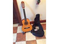 Stagg acoustic hand made guitar with new tuner and bag