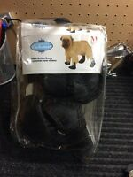 Medium black dog boots brandnew