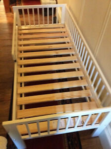 IKEA slatted bed frame and mattress for toddler