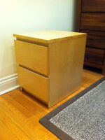 commode bouleau - 2 drawer chest MALM