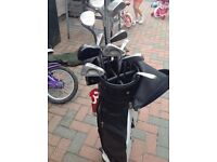 Blades and woods golf clubs