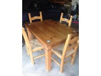 Four piece kitchen dinning table