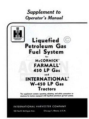 Farmall International W 450 Lp Lpg Operator Manual