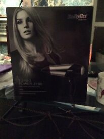 Hair dryer babyliss boxed