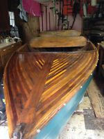Antique wooden Muskoka boat
