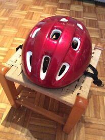 54 - 58 cm Red Bike Helmet