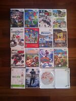 15 wii games hardly used, but used.CAN be sold seperatly