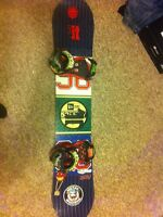 158 Salomon snowboard with tech nine bindings