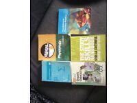 Selection of textbooks (pharmacy medicine chemistry biology statistics)