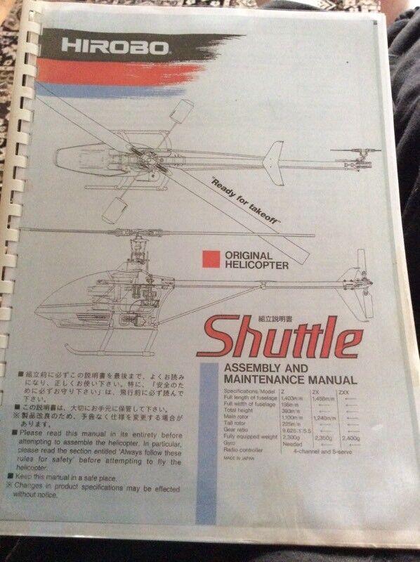 Hirobo Shuttle Nitro Instructions In Coalville Leicestershire