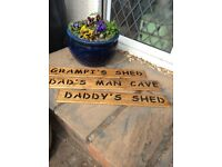 Father's Day wood plaque for shed /garden
