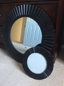 Bamboo Style Mirror & Frame