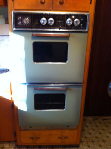 retro double oven and range
