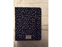 Jack Wills black and white spotted Ipad case