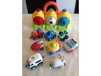 BUNDLE OF CARS AND CAR GARAGE FROM ELC