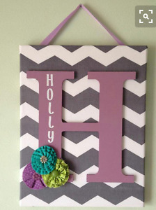 Childrens name wall hangers