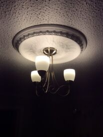 Ceiling Light and two matching Wall Lights