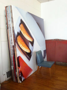 Very Large, Light-weight Stretched Canvases