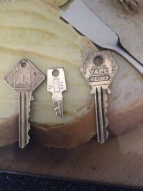 Vintage AA call box keys