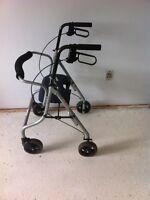 Rollator Walker, Evolution, Padded Seat, Hand Brakes