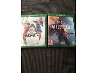 Battlefield 1 & UFC Xbox one