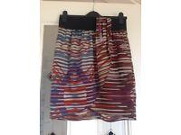 Ladies short patterned skirt size 10