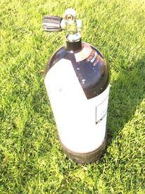 Dive cylinder 15 litres Fabre in test