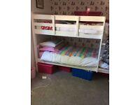 Next white bunk beds