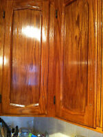 Kitchen cabinets refinished