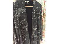 Vintage black & silver jacket. Size 14. 1980's