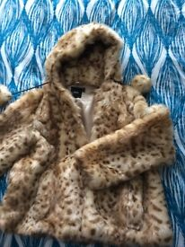 Ladies faux fur jacket