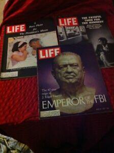 3   Vintage  Life  Magazines