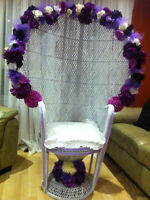 Flower Baby Shower Chair for Rent 50.00