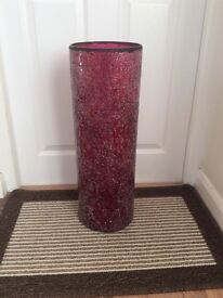 TALL GLASS VASE / UMBRELLA STAND £18