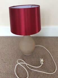 Large lamp with red shade