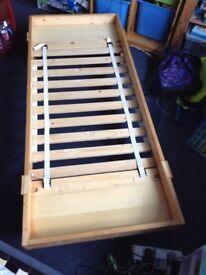 Children's IKEA extendable bed