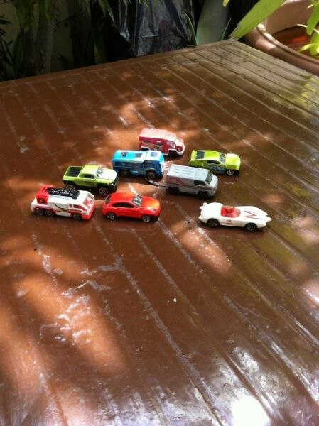 Toy cars. Six units of Fast Lane and one unit of Hot Wheels are. Price is for the entire lot.