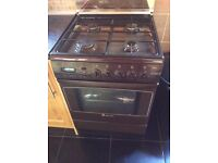 Gas fire cooker oven brown