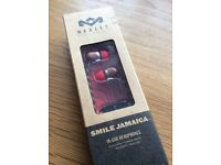 House of Marley Smile Jamaica In-Ear Headphones with 1 Button Microphone - Fire